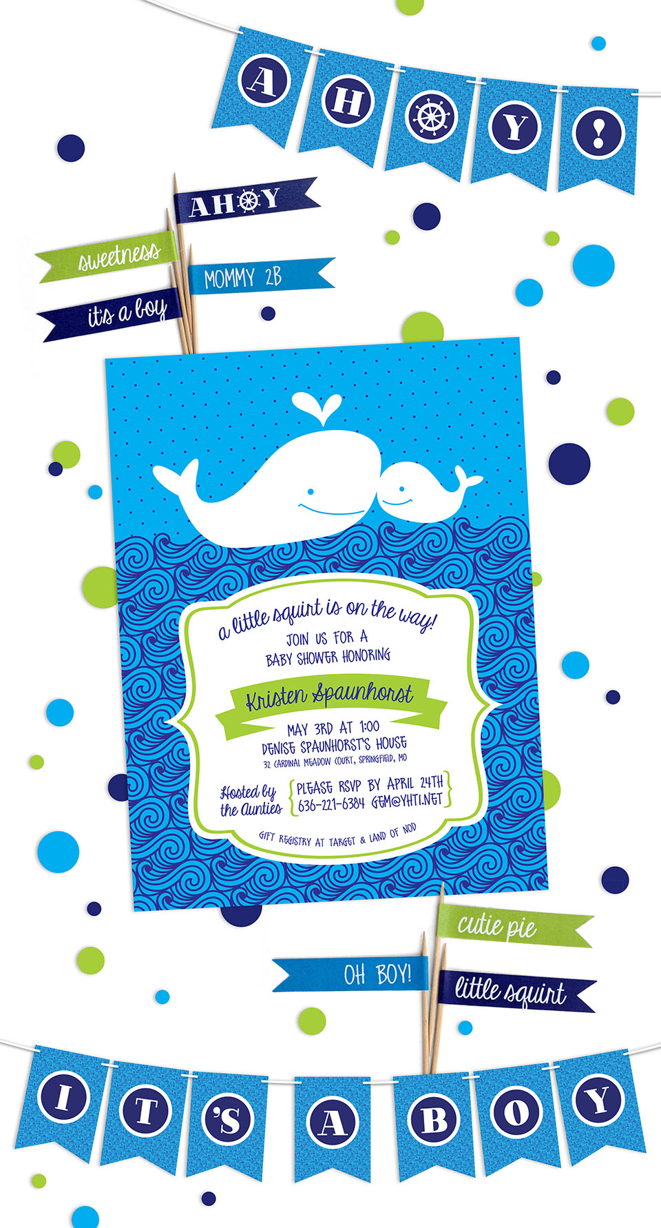 Little Squirt Baby Shower Invite
